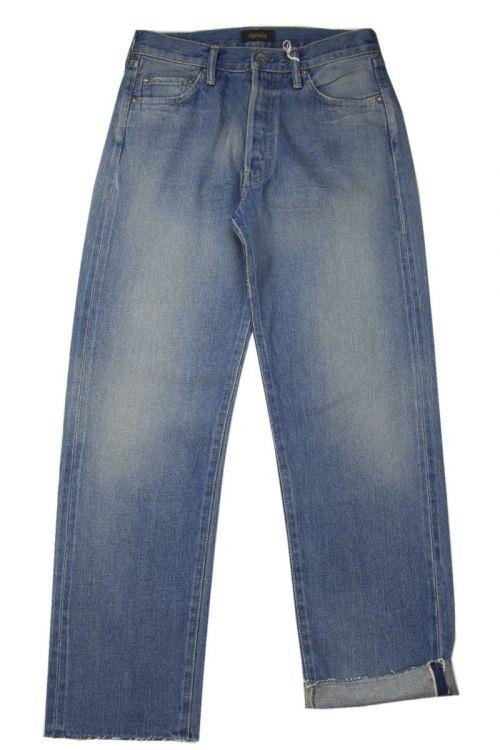 Straight Cut Light Distress Jeans by Chimala-S