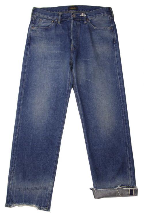 Used Denim Ankle Cut Jeans Vintage Dark by Chimala-S