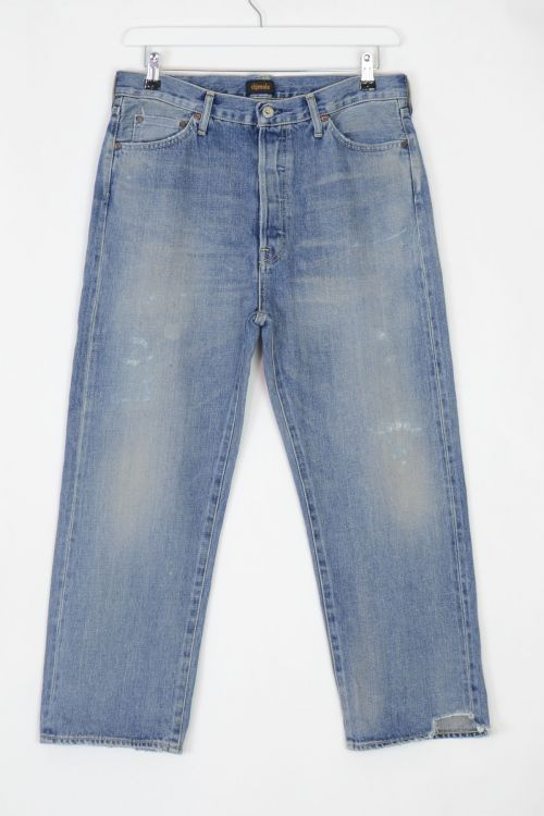 Jeans Wide Tapered Cut Light Repair by Chimala-S