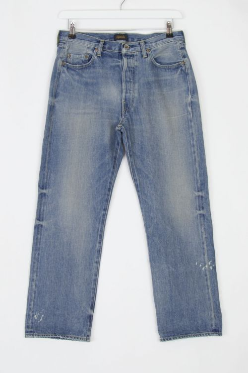 Jeans Vintage Straight Cut Used Light by Chimala
