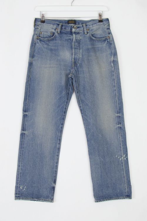 Jeans Vintage Straight Cut Used Light by Chimala-S