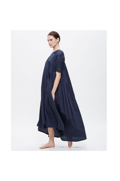Petal Dress Navy Blue by Black Crane