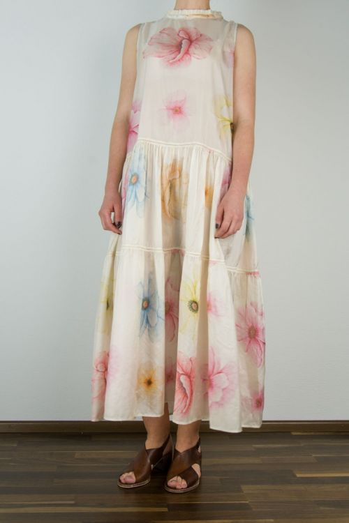 Silk Dress with Printed Flowers by Pero