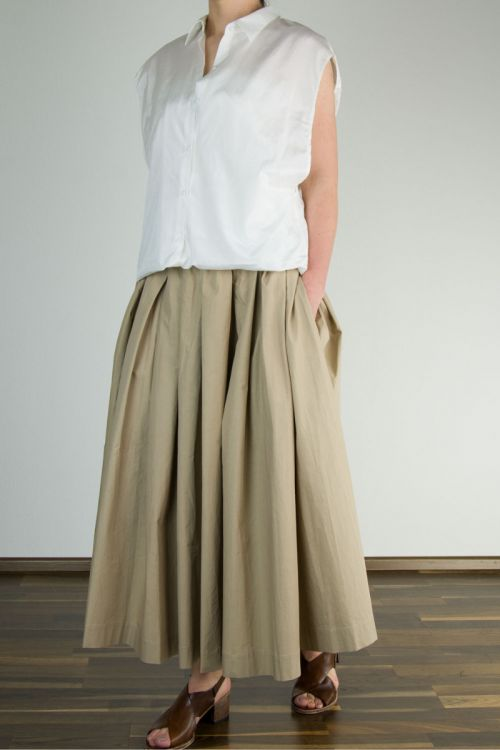 Silk Cotton Crepe Shirt Sofia by Ecole de Curiosites-S