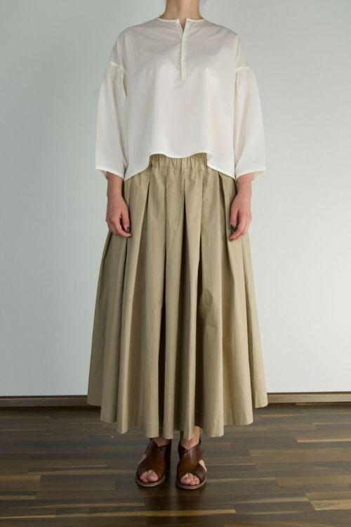 Fine Cotton Popelin Shirt Basil by Ecole de Curiosites-S