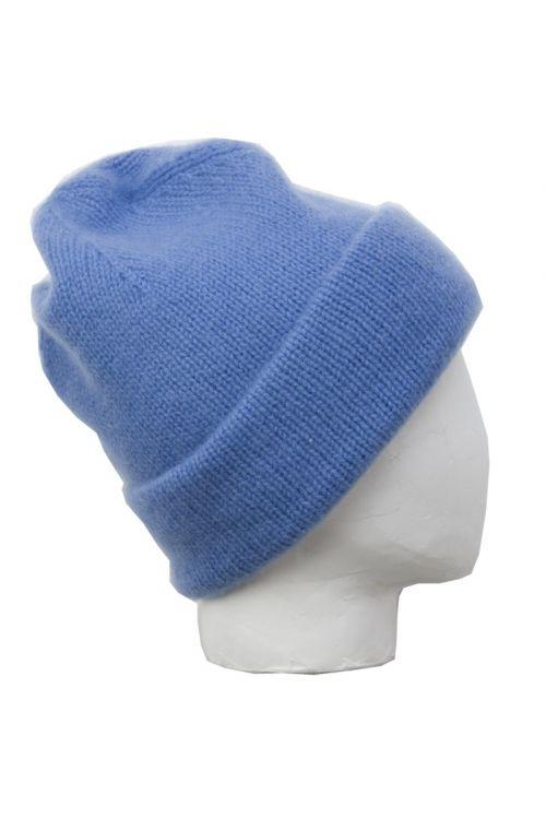 Cashmere Beanie Niklas Blue by Warm-Me