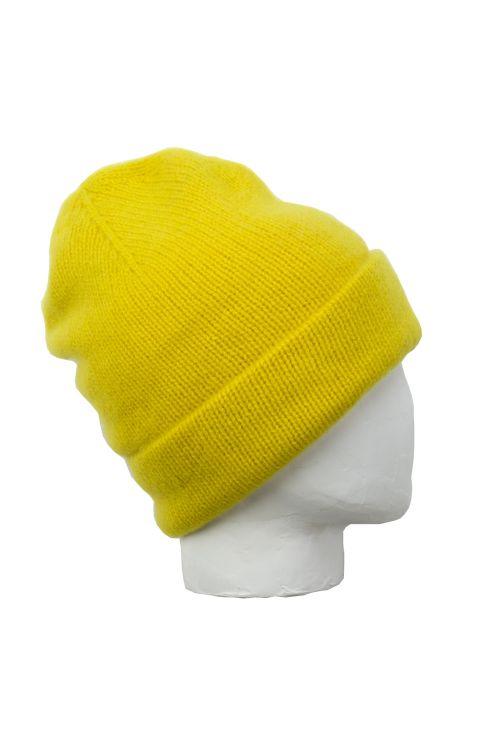 Cashmere Beanie Niklas Lemon by Warm-Me