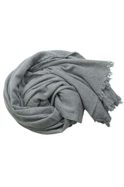 Handwashed Cashmere Vintage Scarf Sim Grey by Private0204-TU