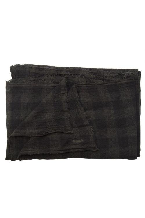 Cashmere Scarf Dark Brown Check by ApuntoB