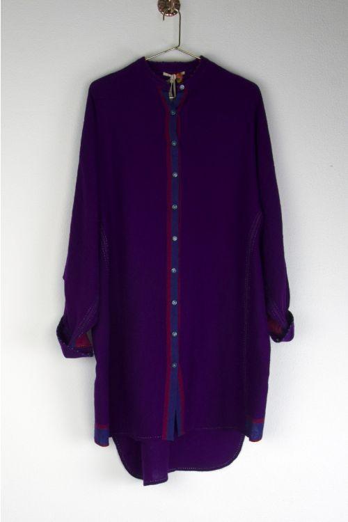Long Wool Shirt Purple by Pero-XS
