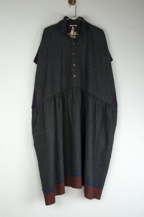 Wool Collar Dress -S