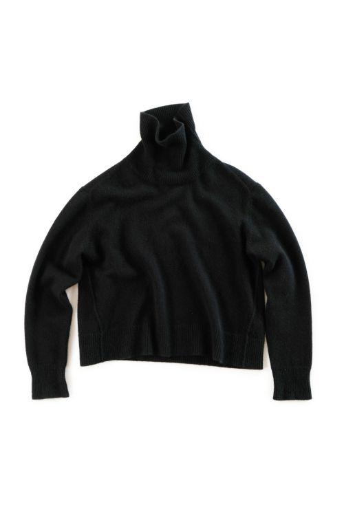 Cashmere Turtleneck Sweater Layla Black by Manuelle Guibal-S