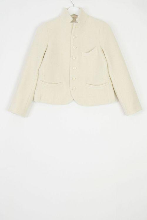 Boiled Wool Jacket Jane Ivory by Ecole de Curiosites