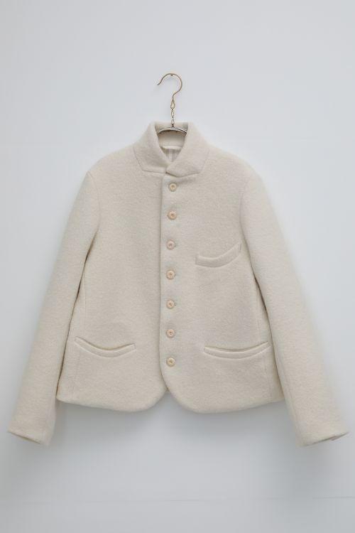 Boiled Wool Jacket Jane Ivory by Ecole de Curiosites-S
