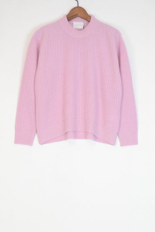 Wool and Cashmere Sweater Kate Lilac Pink by Ecole de Curiosites-M