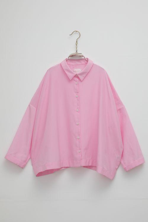 Silk and Cotton Shirt Brigitte Lilac Pink by Ecole de Curiosites-S