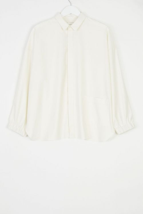 Silk and Cotton Shirt Sam Ivory by Ecole de Curiosites