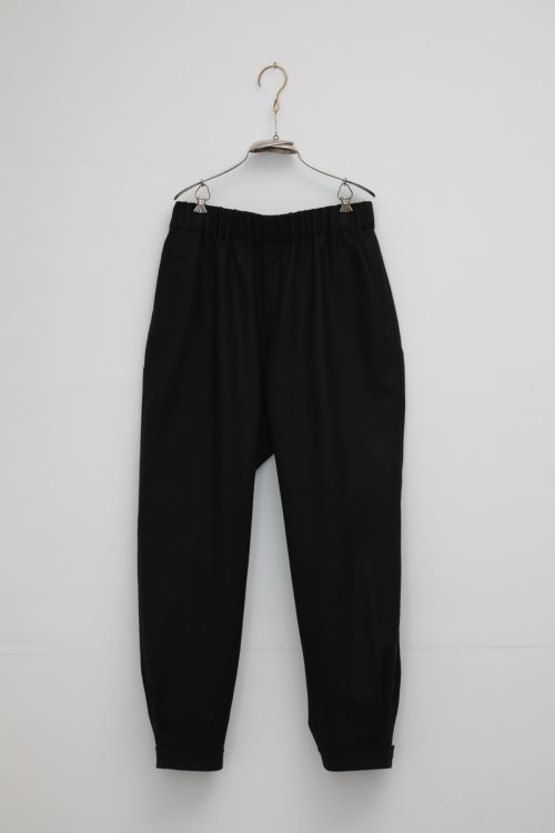 Wool Gabardine Trousers Philip Black by Ecole de Curiosites-S