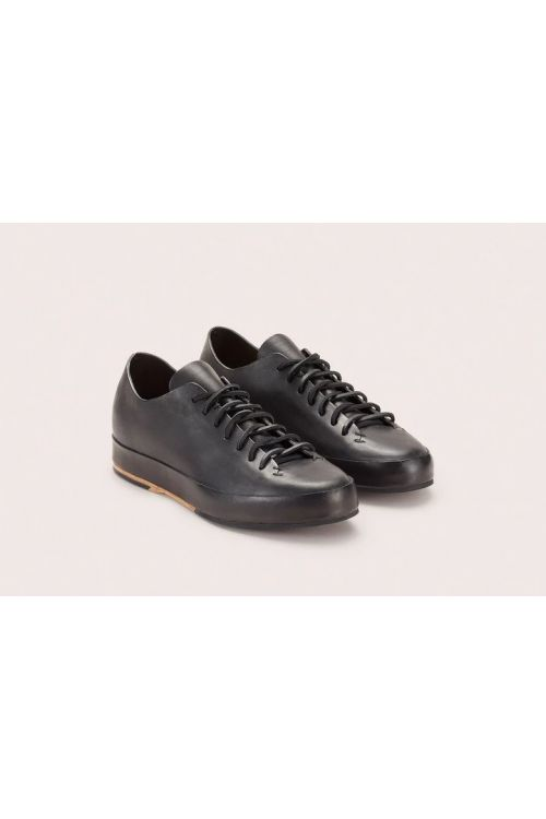 Hand Sewn Low Rubber Sneakers Black by Feit-36EU