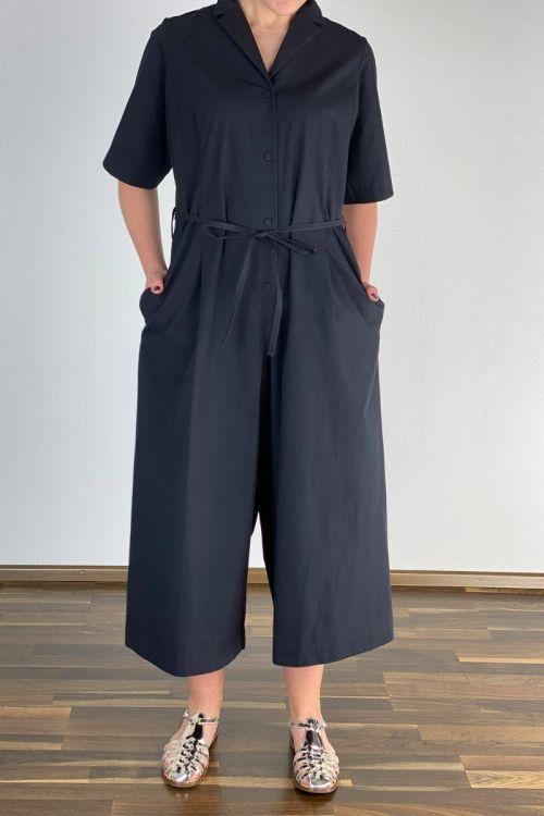Dress Jumpsuit Dovima Black by Ecole de Curiosites