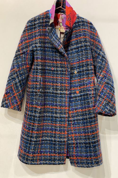 Wool Coat Blue Check by Pero-XS