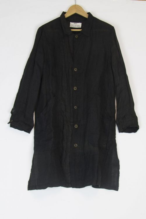 Japanese Vintage Linen Coat Black by Kaval