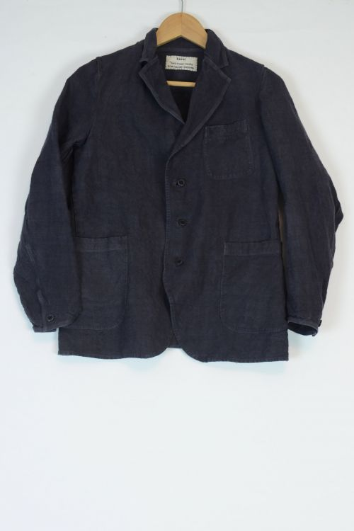 Vintage Linen Simple Stitched Jacket Grey by Kaval-S