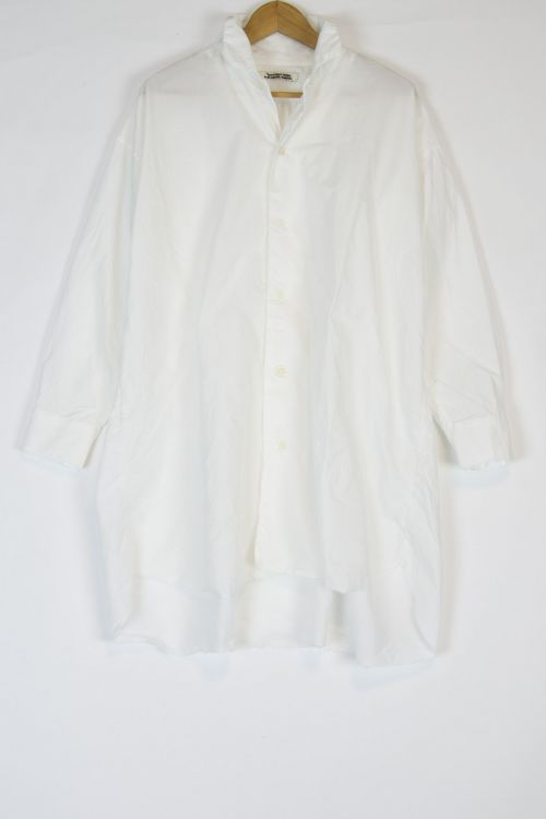 Oversized Cotton Long Sleeve Shirt Off-White by Kaval-S
