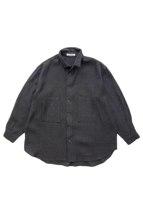 Raw Silk Shirt Black by Kaval