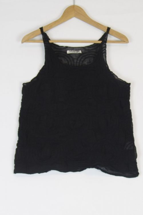 Linen Tank Top Black by Kaval