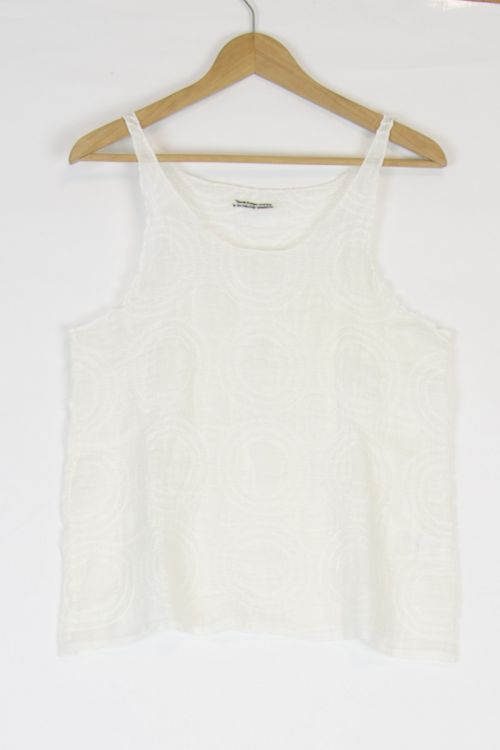 Linen Tank Top Off-White by Kaval-TU