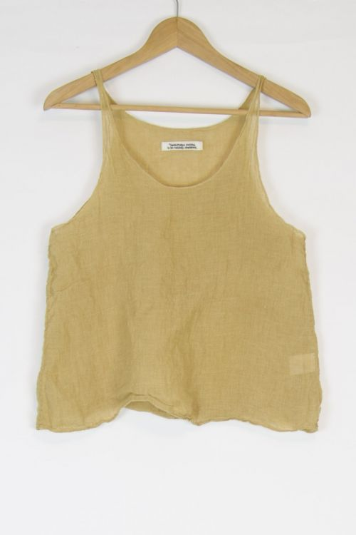 Linen Tank Top Mustard by Kaval