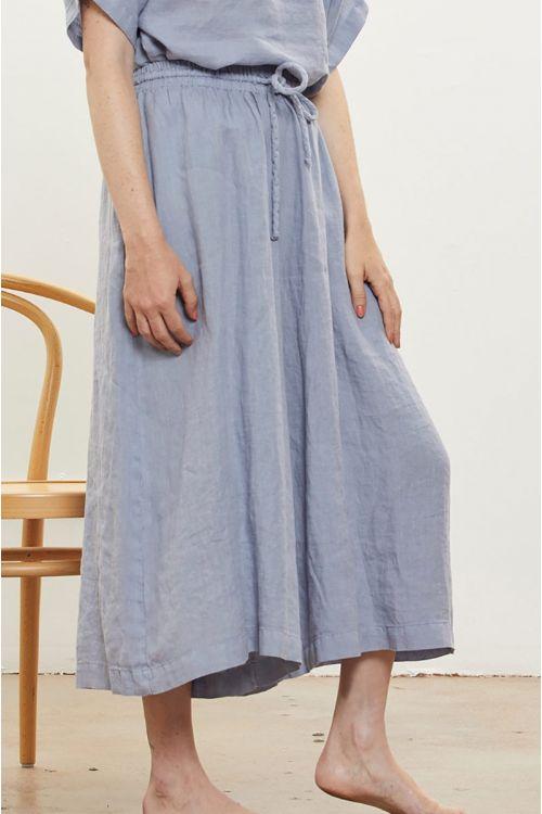 Wide Linen Culottes Lavender by Black Crane-XS