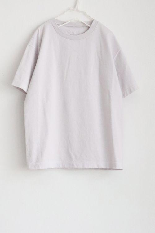 Heavy Cotton Big T-Shirt Grayish Pink by Toujours