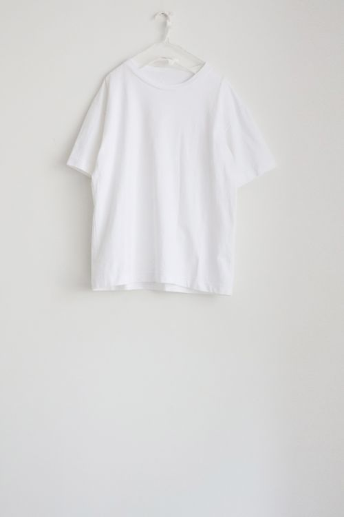 Heavy Cotton Big T-Shirt White by Toujours-TU