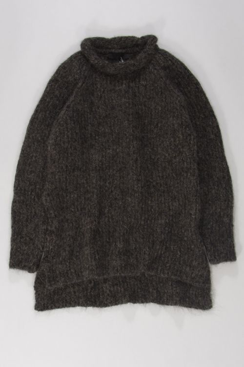 Knitted Woolen Pullover Loroni Mud Marl by Anja Schwerbrock