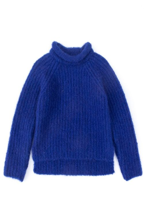 Knitted Woolen Pullover Loroni Blue by Anja Schwerbrock