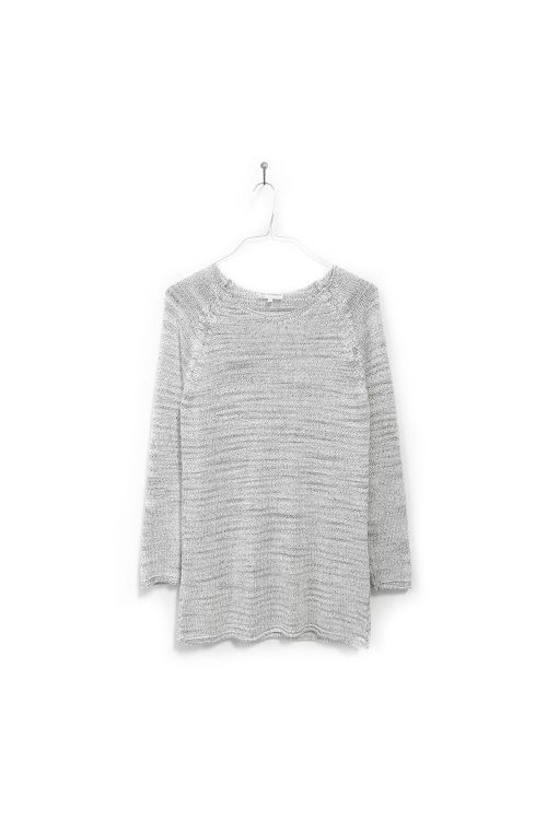 Knitted Pull Loroni White and Black