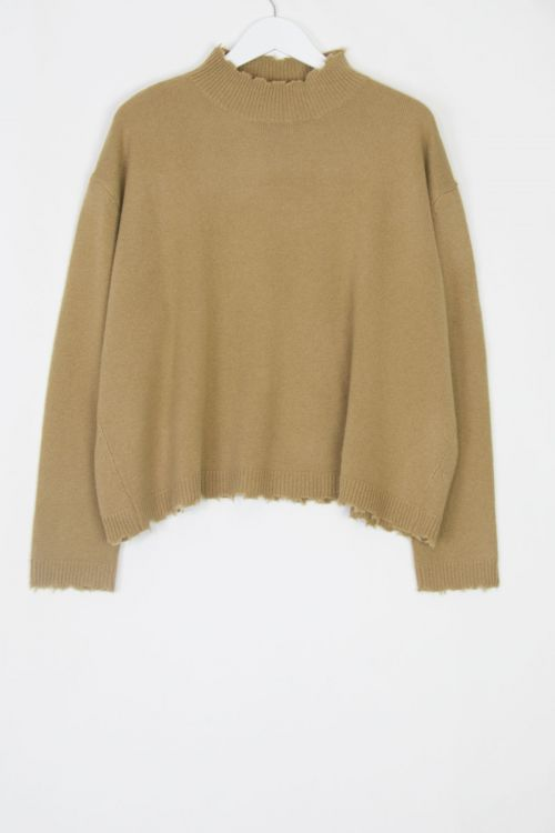 Cashmere Pullover Chemine Walnut by Manuelle Guibal-S