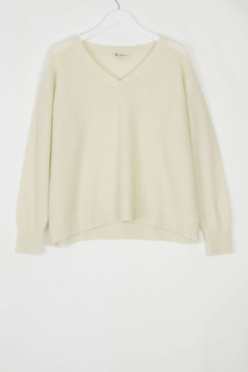 Cashmere V-Neck Pullover Coco by Manuelle Guibal-S