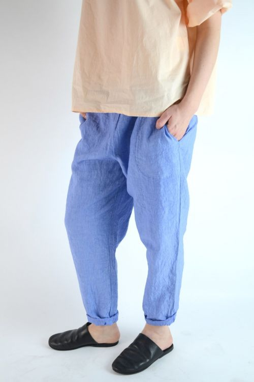 Linen Trousers Lisic Blue by Manuelle Guibal