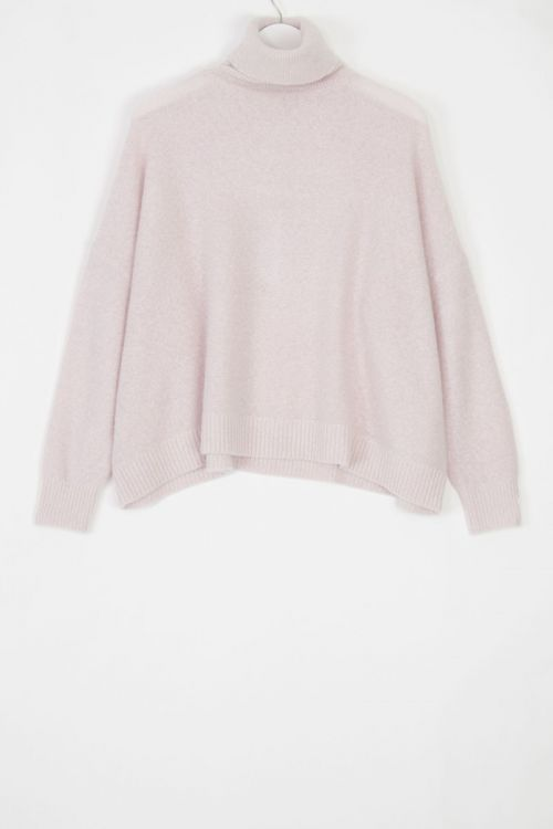 Oversized Cashmere Pullover Moom Dirty Pink by Manuelle Guibal