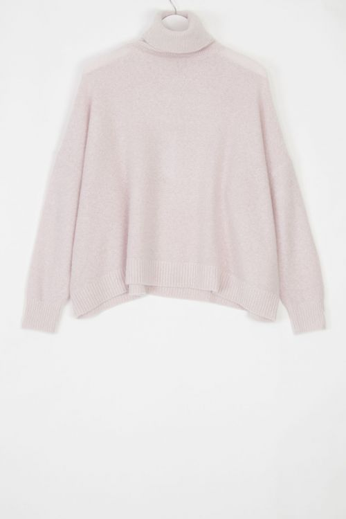 Oversized Cashmere Pullover Moom Dirty Pink by Manuelle Guibal-S