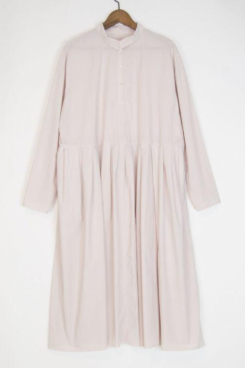 Shirt Dress Mao Inji Dirty Pink by Manuelle Guibal