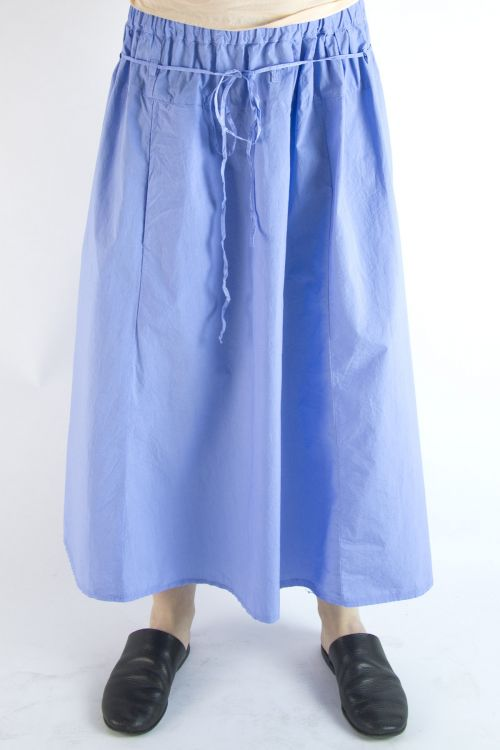 Cotton Skirt Zo Blue by Manuelle Guibal-S