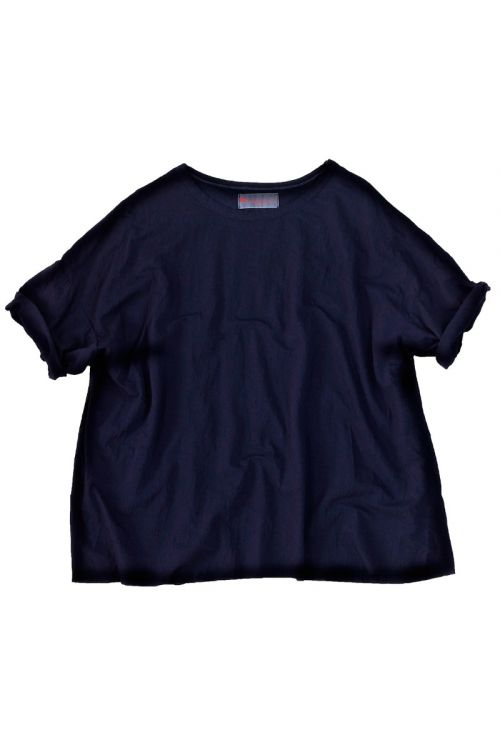 Oversized Japanese Cotton Tee Ita Bright Night by Manuelle Guibal