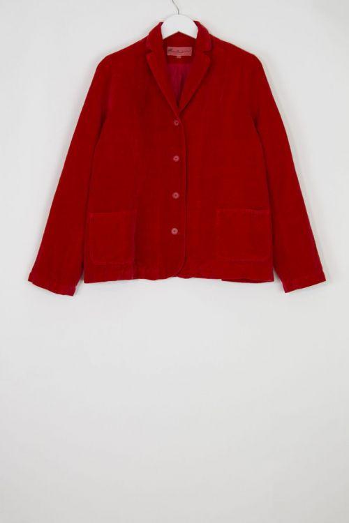 Velvet Jacket Fost Red by Manuelle Guibal