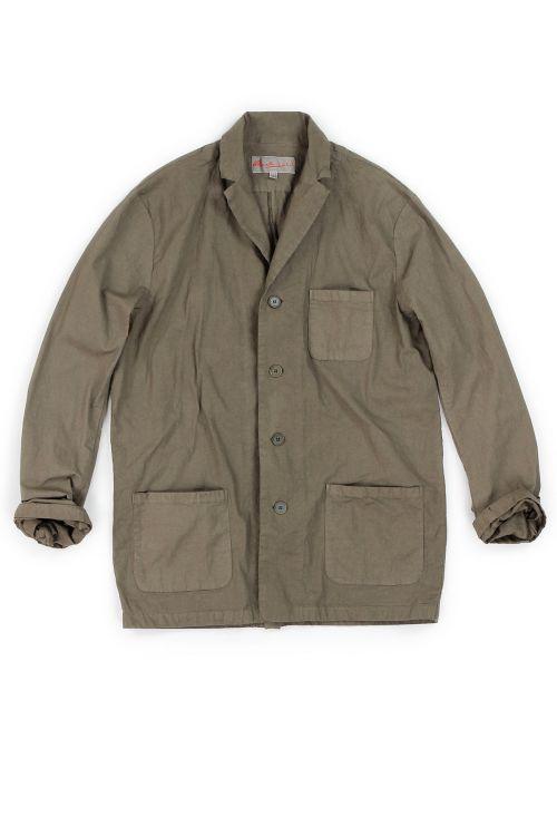 Cotton Jacket Cota Brown by Manuelle Guibal-XS