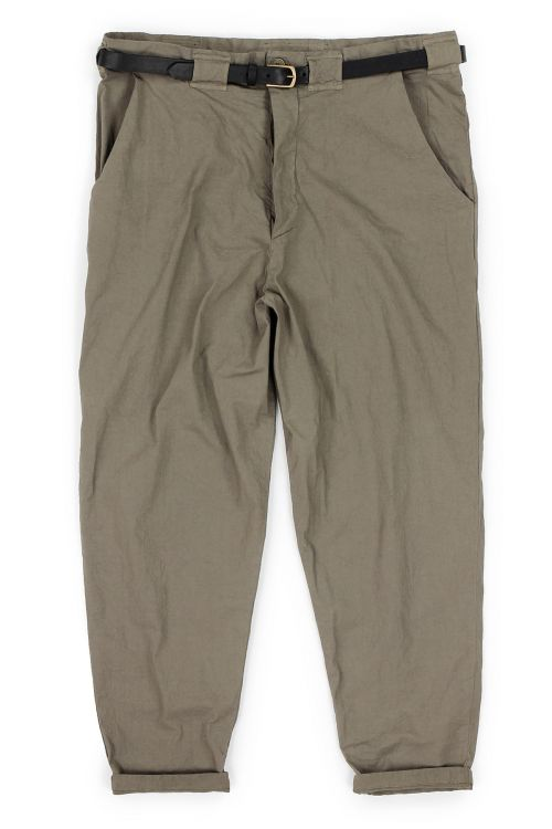 Worker Pant Cota Brown by Manuelle Guibal-XS
