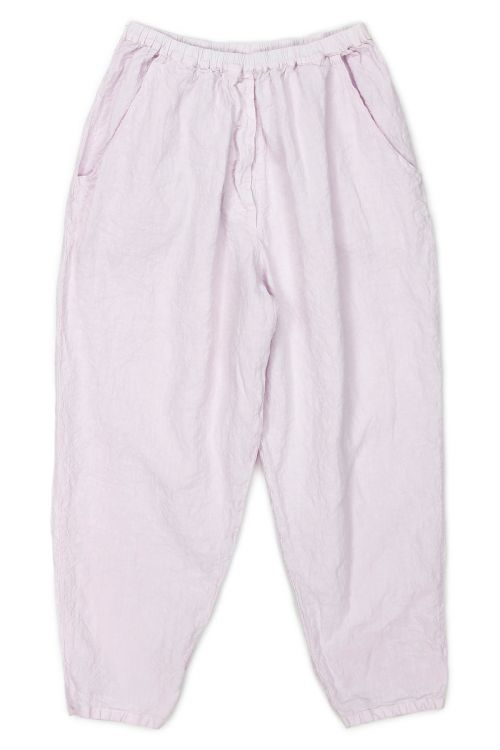 Linen Worker Pant Lisic Light Pink by Manuelle Guibal-S